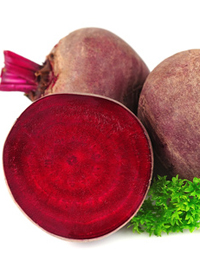 red beets with parsley leafs